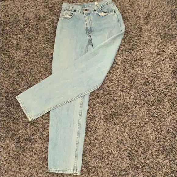 Vintage Orange Tab Levi's 550 Student Tapered Leg